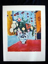 Henri Matisse Le Vase de Fleurs Original Vintage Photolithograph 1950s inv1072
