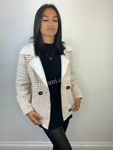Two button checkered soft knitted cardigan