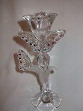 Lenox Candle Stick Butterfly Lead Crystal Swarovski Crystal Rinestones Germany