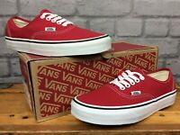VANS MENS UK 6 EU 39 OFF THE WALL AUTHENTIC CRIMSON RED WHITE  TRAINERS