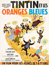 "20x30"" CANVAS Decor.Room design art print..Tintin.Oranges Bleues.French.6084"