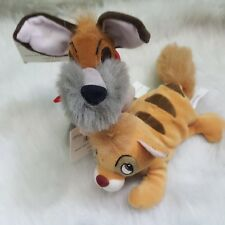 """The Disney Store Bean Bag Plush -Oliver and Company- Oliver and Dodger 7"""""""