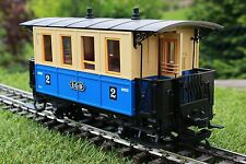 LGB 3011, blau/beiger Personenwagen