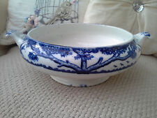 "REDUCED PALISSY ""Springtime"" pattern-Tureen-Colbalt Blue-Staffordshire Pottery"