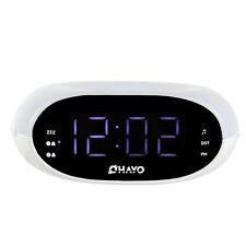 Digital FM Radio Home Dual Alarm Clock Night Light&Sleep Timer 3.5mm AUX Input