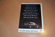 CATALOGUE Volkswagen Golf Carat de 1997