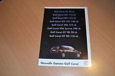 CATALOGUE Volkswagen Golf Carat de 1997
