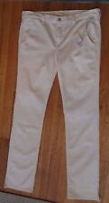 """NWT CRIPPEN, Made in USA, Off-White Jeans, Size 30 (36"""" Belt, 34"""" inseam) (950)"""