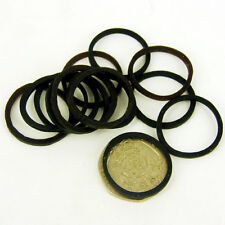 BLACK - BROWN NEW ELASTIC BANDS FOR HORSE HAIR BRAIDING SHOWING PACK OF 25