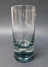 Vase, Glas, 70er Jahre Design, rauchfarben große silbrige Luftblase, TOP-Zustand