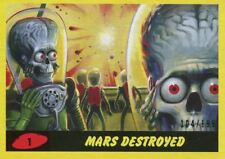 Mars Attacks The Revenge 2017 Complete 55 Card Yellow Parallel [199] Base Set
