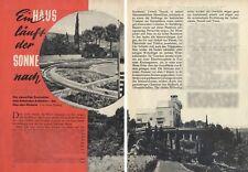 Angelo Invernizzi - Villa Il Girasole bei Verona - Original  Bericht von 1955