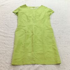 Guy Laroche Womens Pistachio Green Short Sleeve Shift Dress Large Shift Zip Back