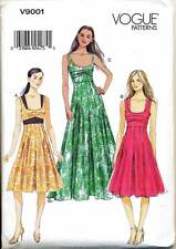 VOGUE SEWING PATTERN 9001 MISSES 14-22 FIT & FLARE DRESS & MAXI, W/ LINED BODICE