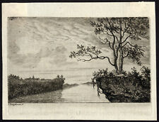 Antique Master Print-LANDSCAPE-DANUBE-LINTZ-Bagelaar-ca. 1800