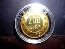 Rara  200 Lire 1995   Proof   Fondo Specchio