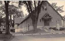 Ellsworth Maine St Josephs Church Real Photo Antique Postcard K45373