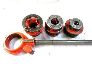 Toledo Model  No.12 Pipe Threader Rachet with Handle & 3  DIES