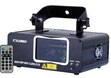 CR WEAPON GREEN LASER  (DMX, automatic, music, wireless remote)