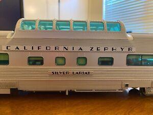 Atlas O Scale 2-Rail California Zephyr Dome Chair Car CB&Q Silver Lariat 4718