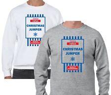 Christmas Jumper Sweater Mens Unisex TESCO Value Xmas Gift Christmas Sweatshirt