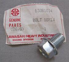 Genuine Kawasaki con brida Cabeza Hexagonal Tornillo De Drenaje De Aceite Acabado Brillante M10x14 130B1014