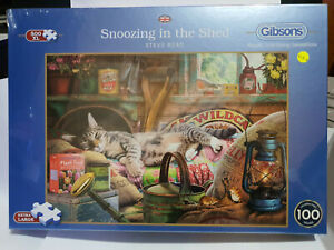Gibsons G3535 Snoozing in the Shed by Steve Read 500 XL pce jigsaw puzzle BNIB