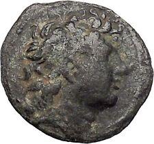 TRYPHON Seleucid King142BC Macedonian Helmet Authentic Ancient Greek Coin i47606