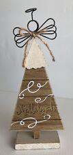 "HALLELUJAH CHRISTMAS TREE FIGURINE METAL ANGEL HAND CRAFTED HOLIDAY SEASON-11"""