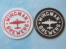 Beer Collectible Coaster ~ WINGMAN Brewers ~ Takoma, WASHINGTON ~ Airplane, Jet