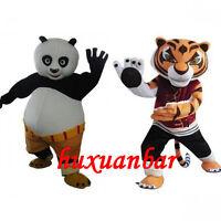 Kung Fu Panda And Tigress Mascot CostumeInteresting Adult Size Halloween Dress