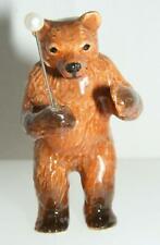 Klima Miniature Porcelain Animal Musician Figure Bear Conductor K144