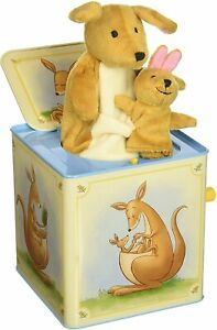 Schylling KRJB2 Kangaroo Jack in The Box Musical Wind up Toy Red