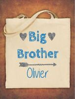 Personalised Big Sister Birthday Gift kids Tote Bag children/'s Cotton Natural