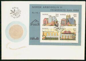 Mayfairstamps NORWAY FDC 1986 COVER ARBEIDSLIV II SOUVENIR SHEET wwm6677