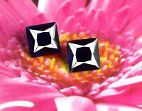 Blue Sapphire Natural Gemstone 5.30 Ct Princess Cut Matching Pair AGSL Certified