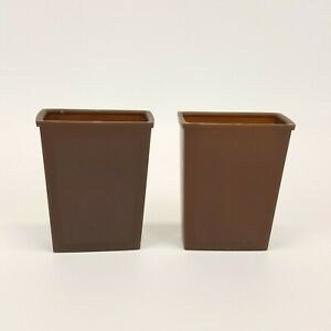 Lowe Backgammon Dice Shaker Cups Brown Replacement Game Part Plastic