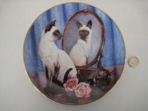 SIAMESE TWINS BY DAPHNE BAXTER LTD ED CAT COLLECTOR WALL PLATE FRANKLIN MINT LTD