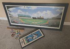 """Minnesota Twins memorabilia """"Twin Bill"""" Metropolitan Stadium print w/ Red Sox's"""
