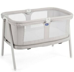 Chicco Lullago Baby Zip Travel Cot Crib Grey - Good Condition with Mattress