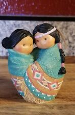 Rare Enesco Friends of the Feather Love For Many Moons Indian Couple Wife