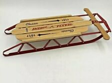 "Radio Flyer Christmas Decor Doll Little Wood Sled 551 New Box 16.5"" Long"