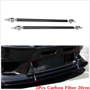 Carbon Fiber Universal AdjustableCar Front Rear Bumper Lip Splitter Support Rods