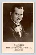 Vintage IVAN MILLER Real Photo RPPC Postcard SHUBERT THEATRE Actor MINNEAPOLIS