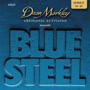 Dean Markley Blue Steel Cryogenic XL Extra Light 10-47 Acoustic Guitar Strings
