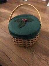 Longaberger 2003 Caroling Basket Set W/ Drum Pottery