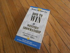 HOW TO WIN AT WESTERN SHOWMANSHIP VHS Horse Riding Equestrian Robert Milkie