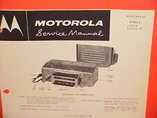 "1955 IH INTERNATIONAL HARVESTER ""R"" LINE TRUCK MOTOROLA AM RADIO SERVICE MANUAL"