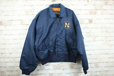 Nickelson Bikers Legend Navy Bomber Jacket size XL
