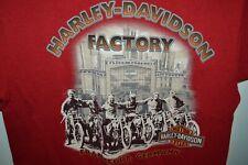 Harley Davidson Santa Frankfurt Germany T-Shirt Mens Large Motorcycles Factory